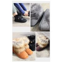ファームートンブーツ レディース アミアミ ブーツ 靴 ショートムートン ベルト 取り外せる 2WAY 防寒  ファー フラット ふわふわ 冬靴  22.5センチ