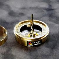 ロックスモーション ポータブル ブラスコンパス&サンダイアル  サイズ: 直径 約7×高さ 約2.7...