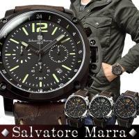 人気の腕時計ブランド、Salvatore Marra ミリタリー×クロノグラフ腕時計。  雑誌にも多...