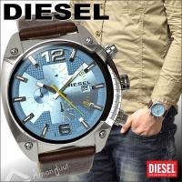 DIESEL/ディーゼル腕時計の中でも人気のモデル。 インパクト抜群のデカ厚フェイス、さらにクロノグ...