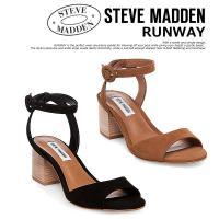 【Steve Madden】RUNWAY SNAKE アンクルストラップ チャンキーローヒールサンダ...