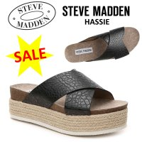 【Steve Madden】HASSIE エスパドリーユ厚底サンダル  【お届けまで約3週間前後頂い...