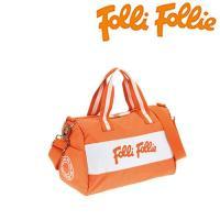 フォリフォリ バッグ Folli Follie ミニボストンバッグ ショルダーバッグ 2way ナイロン オレンジ HB13K010SO ORG/メンズ/レディース