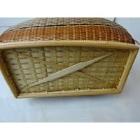 細い竹編みミニバック(ブラウン)