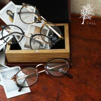 商品名:(CeLL/セル)ボストンメガネ(UVカット加工)  レトロな雰囲気が可愛いボストンメガネ。...
