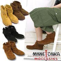 商品名:(MINNETONKA/ミネトンカ)アンクルフリンジショートブーツ  ショート丈のブーツで足...