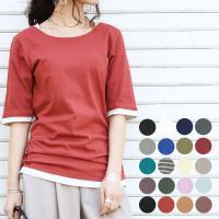 ファッションバーゲン*:.☆   商品名:フェイクレイヤードくしゅくしゅシャーリング5分袖カットソー...