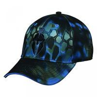 USモデル BBキャップ メンズ 帽子 / Kryptek Tactical Camo Spartan Warrior Neptune with Jet Black Logo Cap Hat 149,Kryptek Neptune / Black,One Size Fits