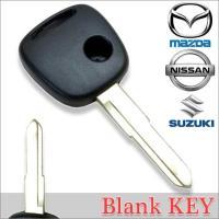 メール便送料無料 高品質ブランクキー スズキ ワゴンR 1穴 ワイヤレスボタン スペア キー カギ 鍵 割れ交換に 合鍵