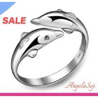 指輪 レディース リング シルバー925 イルカ ハワイアン 海 サイズフリー アレルギーフリー|angela-web