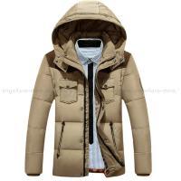 ダウンジャケット メンズ ショート丈 白のダウン50% 秋冬アウター ダウンコート メンズ 大きいサ...