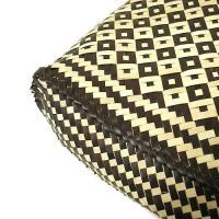ロンタール椰子のカゴバッグ トートバッグカリマンタン編み角型ブラウン編込み紐 アジアン雑貨 バリ雑貨 タイ雑貨 エスニック