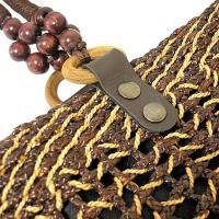 ウォーターヒヤシンスのカゴバッグ 編込み紐 ショルダーバッグ  [ブラウン系] かご バック アジアン雑貨 バリ雑貨 タイ雑貨 エスニック