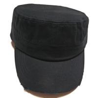 Blank Cadet Cap- Black Vintage Distressed Capカデットキャップ(カストロキャップ)☆ヴィンテージ加工!
