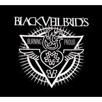 【メール便対応可】BLACK VEIL BRIDES ブラック・ベイル・ブライズ BURNING PROUD JUNIORS オフィシャル レディースバンドTシャツ【レディース】