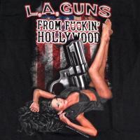 【メール便対応可】LA GUNS LAガンズ FROM FKIN HOLLYWOOD オフィシャル バンドTシャツ【正規ライセンス品】