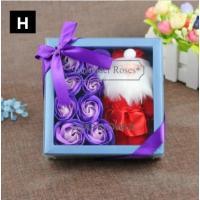 お花 ソープフラワー  石鹸のお花 5色バラボックス バレンタインデー 告白プレゼント ホワイトデー プロポーズ  いい香り 6輪 ギフトお祝い