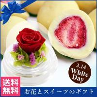 ホワイトデー特集 バラと苺のあま~いお話 送料無料 プリザーブドフラワー スイーツ