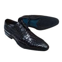 クロコ型押しが存在感を放つ新作 メンズ ビジネスシューズ。本革使用で履けば履くほど足に馴染む靴へと変...