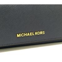 マイケルコース 財布 長財布 レディース 二つ折り MICHAEL KORS JET SET TRAVEL 35H6GYAE3L ネイビー CARRYALL LTR LEATHER アウトレット