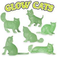 暗闇で光るキュートな猫♪暗闇でぼんやりと光る猫は、夜のベッドルームの目印にもいいですね。6種類ある猫...