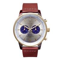 オシャレなトリワ ネヴィルブルーフェイス 腕時計 ゴールド×ブルー×ブラウン ユニセックス TRIW...