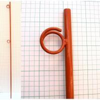 鉄杭 オレンジ鉄筋杭K ロープスティック ロープ等で敷地を囲う杭に最適です ** サイズ 直径16m...