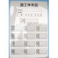 施工体制図 「施工体系図 タテ」 サイズ 900×600     硬質樹脂製  焼却しても塩素系の有...