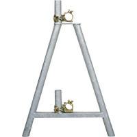 全メッキ仕上げ単管バリケード 鉄(スチール)ガードスタンド 2個で1セット ※クランプは含みません ...