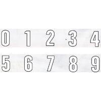 *駐車場用 番号表示粘着シート *0〜9まで各文字1文字の価格です。 *数字を選択してください。  ...