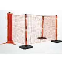 ロール式安全ネットフェンス ラピッドロールセット ○フェンス寸法 H122cm×15m <特長> ・...