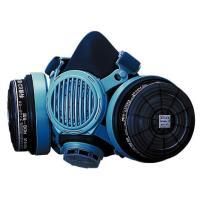 ■高性能フィルター付き(防じん機能を有する防毒マスク) ■面体中央部の伝声器により、マスクを装着した...