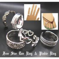 トゥリング ピンキーリング フリーサイズ 指輪 小指リング アクセサリー キッズ 子供用 5種類 シルバーカラー r1381-