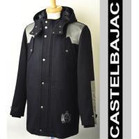 厚手のウール素材が心地よいハーフコート。 袖や肩の異素材使いがさりげないポイント。 ボタンで脱着可能...
