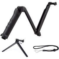 GO PRO GOPRO ゴープロ 自撮り棒 hero5 hero6 hero7 対応 保護フィルム付き 3Way スマホ デジカメ にも使用可 軽量  メーカー1年保証 30日間お試し返品可