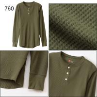 Tシャツ 長袖 メンズ ヘインズ Hanes サーマル ヘンリーネック ロングスリーブ 男性用 アンダーウェア インナーシャツ/HM4-G503【返品不可】