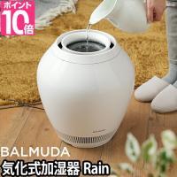 BALMUDAから生まれた全く新しい加湿機、それが「レイン」。上からそのまま水を注ぎ入れる給水方法は...
