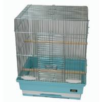 手のりセキセイインコや手乗り文鳥を飼育するのにいい サイズの鳥かごです。  前面中央には大きく開く扉...
