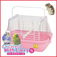 シンプルで軽いので、持ち運び便利&使いやすい小鳥・小動物用のキャリー。  サイドパネルが透明で中が良...