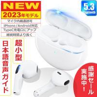 ワイヤレスイヤホン Bluetooth5.1 コンパクト FIPRIN 6909 日本語音声ガイド 高音質 重低音 防水 スポーツ iPhone Android ブルートゥース 最新型