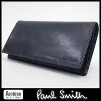 ポールスミスの素敵な長財布です。レザーのシワ加工が特徴的なニューヘビークリーシーシリーズの長財布です...