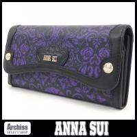 アナスイのお洒落な長財布です。キティちゃんとのコラボレーションの「クラシック」シリーズです。薔薇のデ...