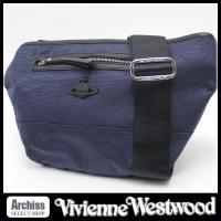 ヴィヴィアンウエストウッドの格好良いウエスト&ボディバッグです。生地はネイビーのナイロン素材でオーブ...