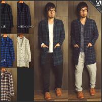 [商品説明] チェック柄デザインのチェスターコートシャツ。 程よい厚さでシルエットも良く、羽織るだけ...