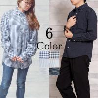 [商品説明] オックスギンガムストライプシャツ。 定番のギンガム・ストライプ柄のシャツ。 シンプルで...