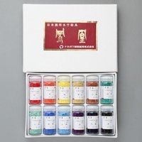 メーカー:ナカガワ胡粉絵具株式会社  ■商品説明  水干絵具の基本12色セットです。  水干絵具各色...