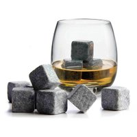 溶けない石の氷 9個セット ウィスキー ストーン 氷の石 収納袋付き アイスキューブ Whisky ...