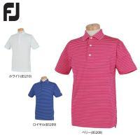 フットジョイ メンズ ダブルニット 半袖 ポロシャツ FJ-S16-S57 ゴルフウェア [春夏モデル 58%OFF] 特価 [有賀園ゴルフ]