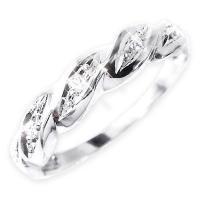 ダイヤモンド・天然石・リング・指輪・ファッション   ダイヤリング 指輪ツイストリング 19号   ...