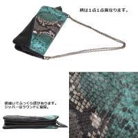 お財布ポシェット robita (ロビタ)パイソン×ラムレザー 2WAYクラッチウォレット R171-030